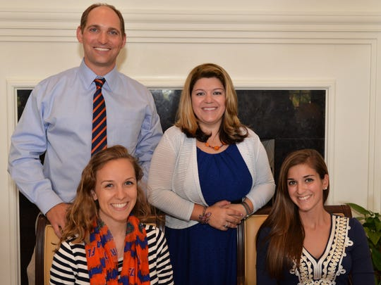 Club President Sean Mickley, Event chair Katie Profeta and seated are Katherine Stanton and Ashley Witkowski