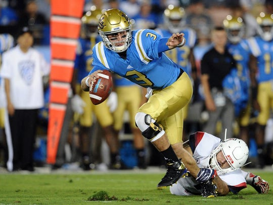 UCLA's Josh Rosen is not thought of a great running