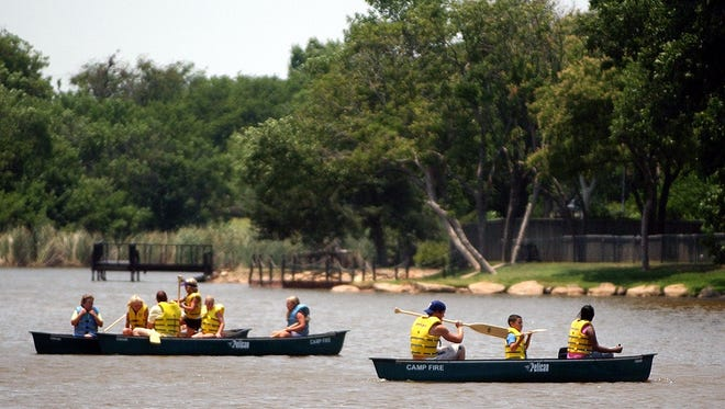Camp Fire North Texas summer Day Camp offers older campers a chance to canoe.