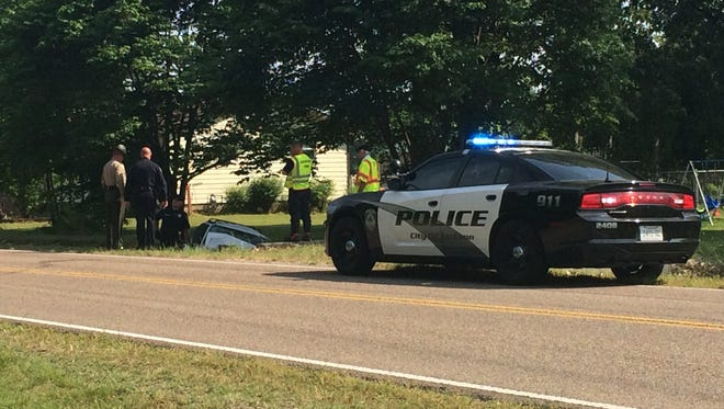 Jackson Police and Fire Department are on the scene of a wreck on Old Humboldt, Friday morning.