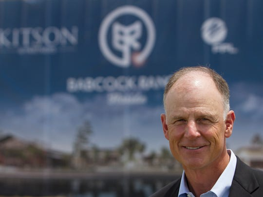 Syd Kitson is the brains behind a new city on the Babcock Ranch.