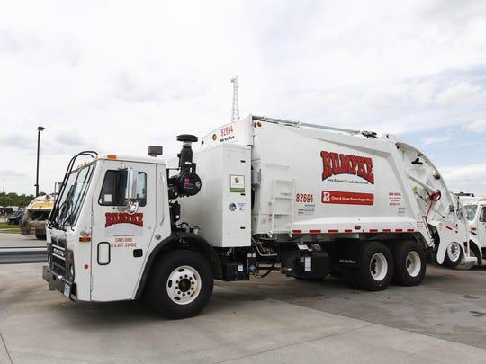 A Rumpke garbage truck
