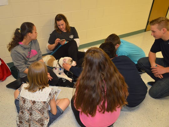 Pittsgrove Township Middle School students learn about