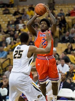 Northwestern State's Zeek Woodley scored 14 points to lead the Demons on Saturday.