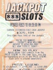 Mark Maltz's winning Fast Cash Jackpot Slots ticket.