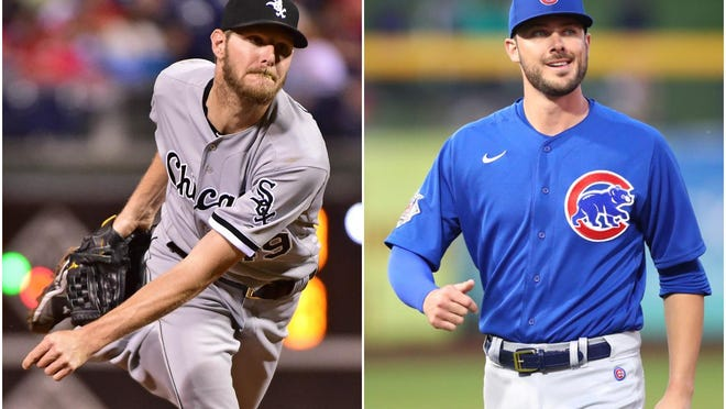 The Chicago White Sox drafted Chris Sale, left, at No. 13 overall in 2010. The Chicago Cubs picked Kris Bryant, right, at No. 2 in 2013 -- showing that great talent an be found early in the draft -- but not as often as you'd think at No. 1 overall.