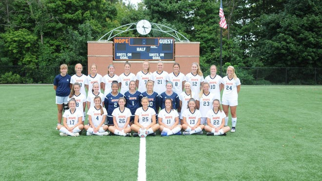 The Hope College women's soccer team.