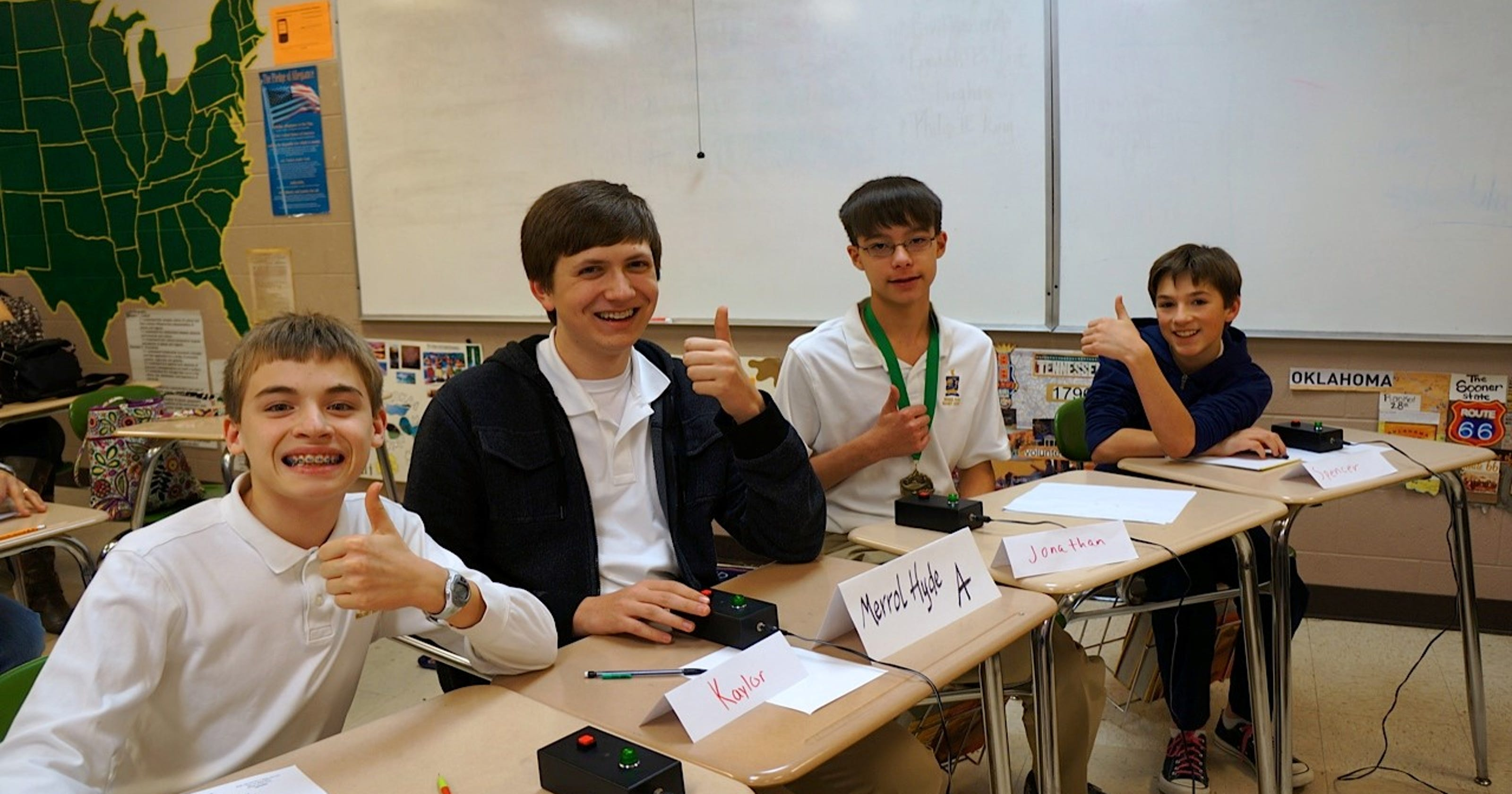 Merrol Hyde takes second place at quiz bowl