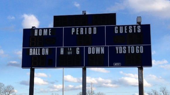Scoreboard at Suffern Middle School