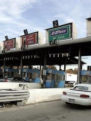 The old Tappan Zee Bridge toll plaza