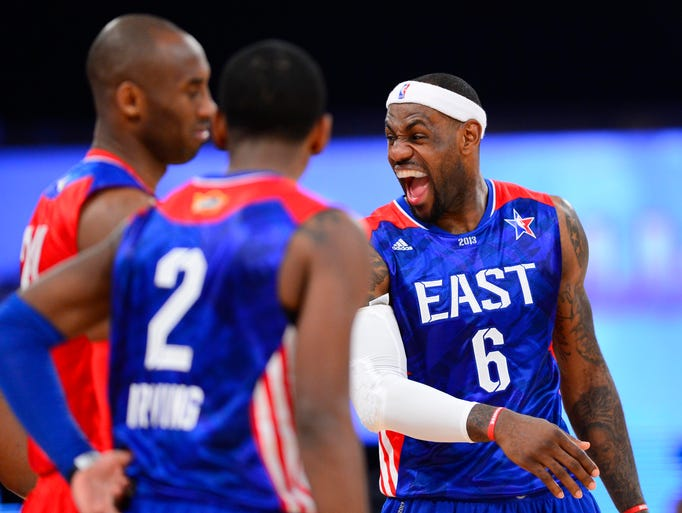 LeBron James got the laugh this time., leading the 2014 NBA All-Star Game starting lineups in fan votes. Flip through to see the starters, listed by number of votes received.