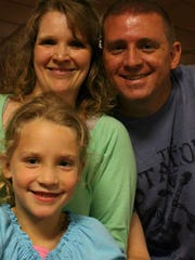 Sara and Madeline with Jason Gooley before his death in December of 2014.
