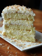 Coconut cake at Blackbird Restaurant.