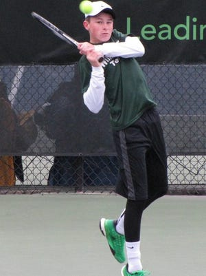 Oliver Weaver, shown here in the finals of the 2015 MHSAA state tournament, will return to Williamston after reaching being the Division 4 state runner-up at No. 1 singles.