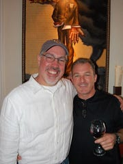 Blue Coyote Supper Club. owner Mitch Schwenke, right,