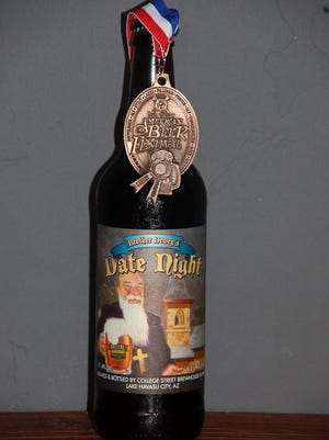 College Street Brewhouse & Pub from Lake Havasu City was the state's only winner, earning a bronze medal in the aged beers (minimum 1-year aging) category for its Brother Dewey's Date Night.