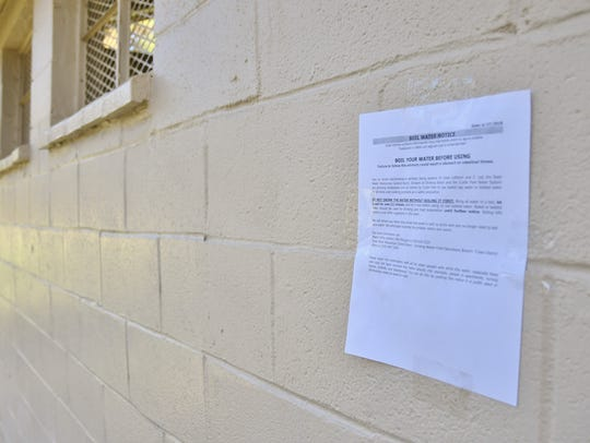 Boil advisories have been posted on the bathrooms of