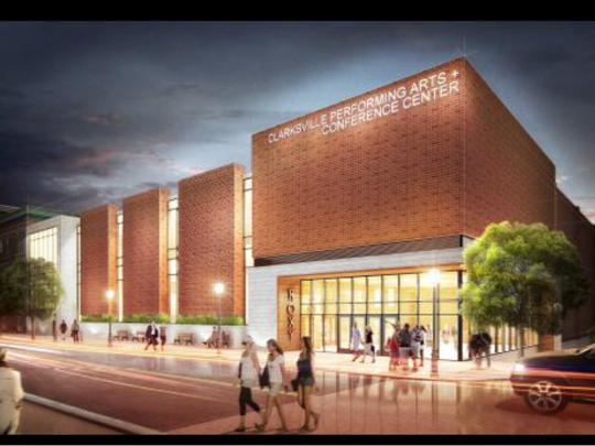 Rendering of a proposed Clarksville Performing Arts