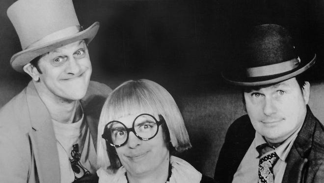 """From left: Ladimir Kwiatkowski as Ladmo, Pat McMahon as Gerald and Bill Thompson as Wallace in a 1970s promotional photo for the """"Wallace and Ladmo Show."""""""