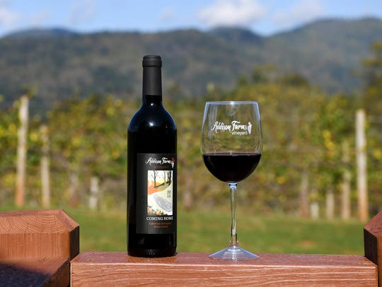 Addison Farm Vineyards make their wine from grapes