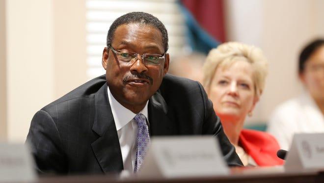 Junior Bridgeman is seen during a meeting of the new University of Louisville board of trustees. July 13, 2016.