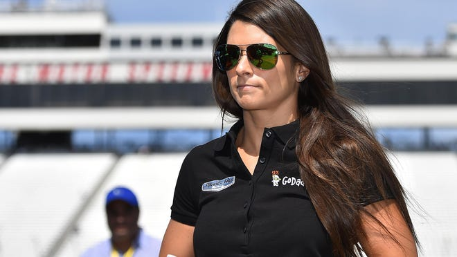 Sprint Cup Series driver Danica Patrick during practice for the New Hampshire 301 at New Hampshire Motor Speedway.