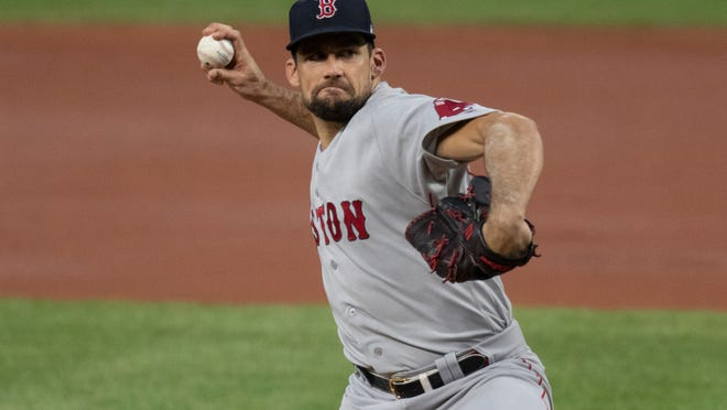 Red Sox starting pitcher Nathan Eovaldi -- shown in an Aug. 20 game at Baltimore in which he gave up one earned run over seven innings -- has been placed on the 10-day injured list.