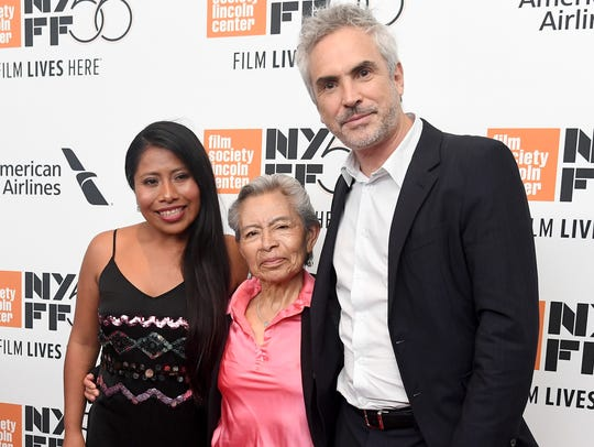 Yalitza Aparicio (from left), Liboria Rodriguez and