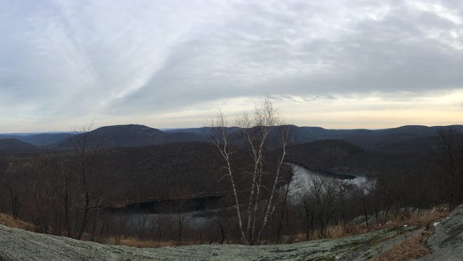 The view from the Torrey Memorial at the summit of Long Mountain.