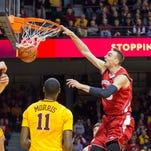 Wisconsin Badgers forward Sam Dekker (15) dunks the ball in the first half against the Minnesota Golden Gophers at Williams Arena.