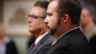 Butler County state Rep. Wes Retherford appears in court for a preliminary hearing Wednesday at Butler County Area 2 Court in Hamilton. He is accused of drunken driving and improperly handling a firearm.