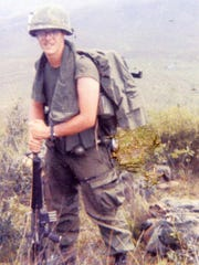 Lee Zeddies of Manitowoc in Phu Bai, a northern U.S. outpost in Vietnam. Zeddies and Scott Schultz were among the last troops to be pulled from Vietnam during the war in 1972.