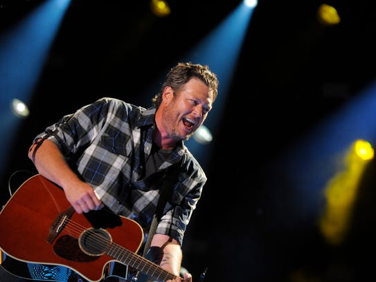 Blake Shelton performs at CMA Fest at LP Field Friday