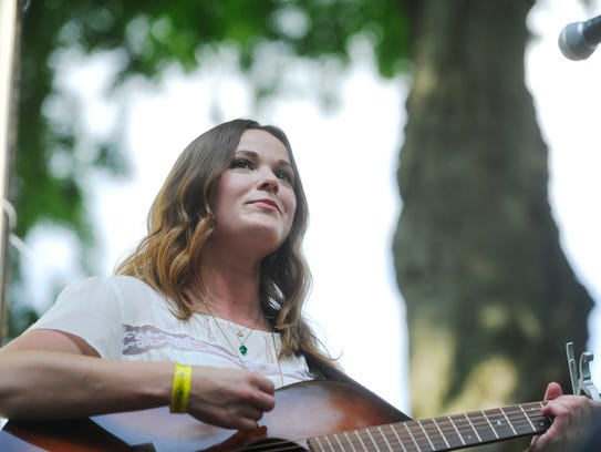 Jillian Jacqueline performs at Musicians Corner in