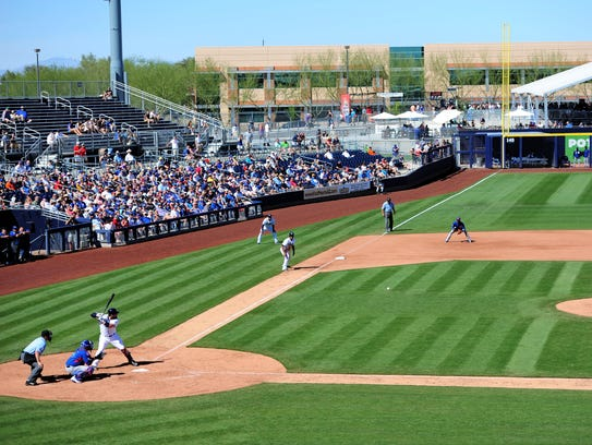 A view of a game at the Peoria Sports Complex, a venue