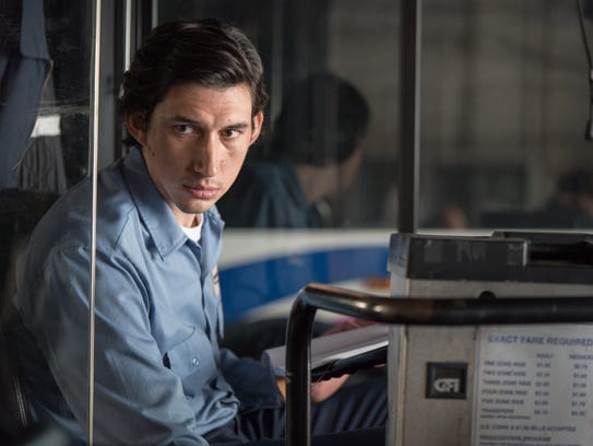 "Adam Driver plays a poetry-writing bus driver in ""Paterson."""