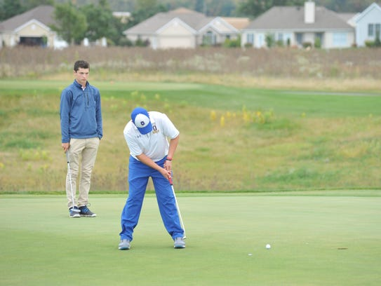 Ontario's Marc Wilkins Jr. putts toward the cup on