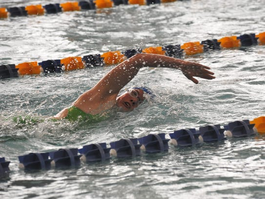 Ontario's Becca Gregg swims the 500 freestyle.