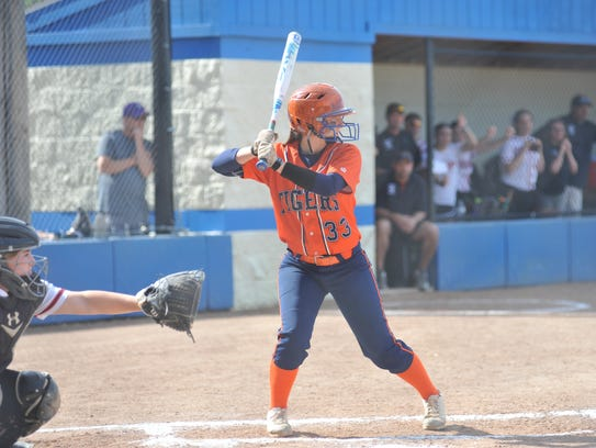 Galion's Nevaeh Clark awaits a pitch in the regional