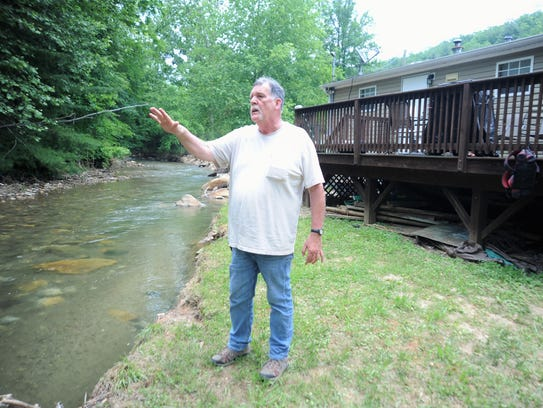 Quentin Fox talks about the damage to his property