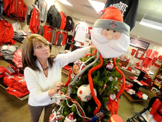 Lynn Berry, owner of Picture This, has a Christmas