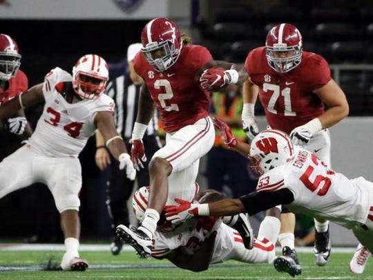 Derrick Henry rushed for a career-high 147 yards and