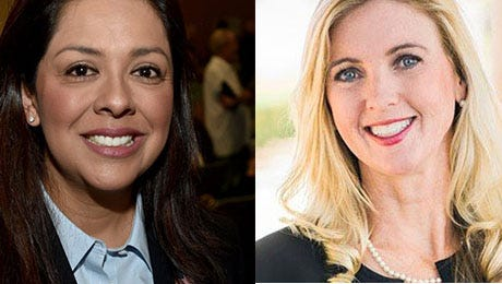 Carla Castilla (left) and Kelly Long are running for the 3rd District seat on the Ventura County Board of Supervisors.