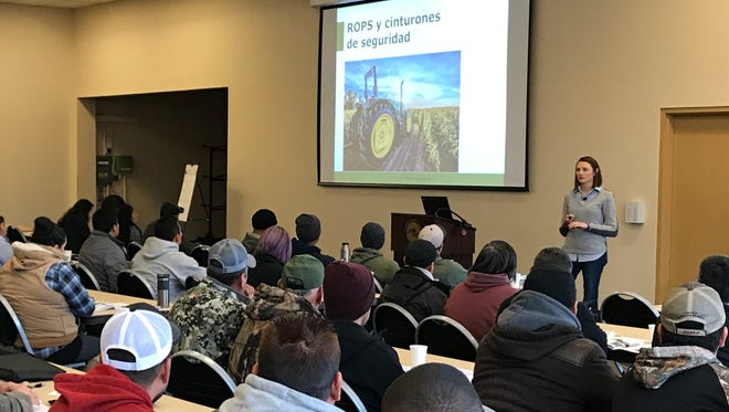 Workers learn how to stay healthy on the job during an agricultural safety seminar conducted by SAIF in Hillsboro.