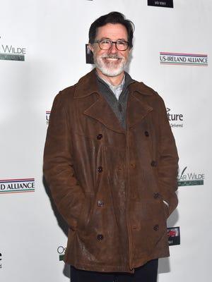 Stephen Colbert attends the US-Ireland Aliiance's Oscar Wilde Awards on Feb. 19.