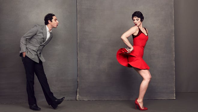 Crystal Renn models the short Betty Boop dress by Zac Posen, which sells for $250.