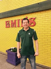 Paul Grescowle, owner of Emil's, outside of his restaurant,