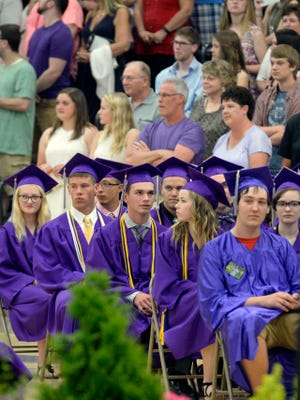 In this file photo, Kiel High School celebrates its Class of 2016 graduation ceremony May 29, 2016, at the high school gymnasium.