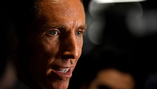 """""""I love to compete. I love to teach, to lead and to be a part of a team,"""" said new Brooklyn Nets coach Steve Nash."""