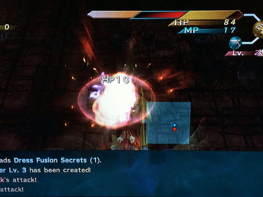 "Special attacks and spells have eye-catching illustrations in ""Final Fantasy X-2: Last Mission."""